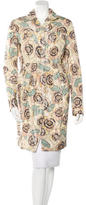Rochas Floral Print Knee-Length Coat