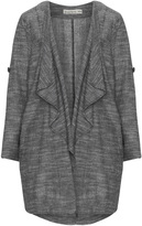 Isolde Roth Plus Size Cotton and linen waterfall jacket