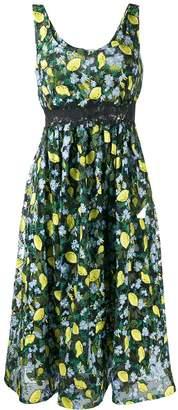 Diane von Furstenberg lemon print dress