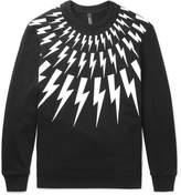 Neil Barrett Printed Loopback Cotton-Jersey Sweatshirt