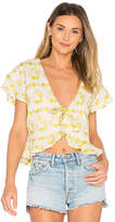Tularosa Winnie Blouse in Yellow. - size L (also in M,S,XS)
