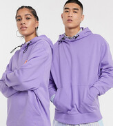 Collusion COLLUSION Unisex hoodie in lilac with toggle