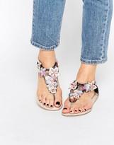 Asos FAMOSA Embellished Flat Sandals