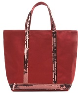 Vanessa Bruno Cabas Moyen embellished canvas shopper
