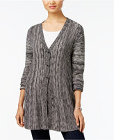 Style&Co. Style & Co. Petite Three-Button Marled Cardigan, Only at Macy's