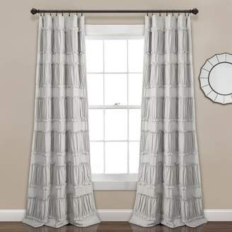 "Lush Decor 84""x42"" Nova Ruffle Window Curtain Panels Set"