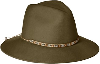 Gottex Women's Moonlight Wool Felt Sun Hat w/Jewel Trim Rated UPF 50+ for Max Sun Protection