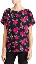 Lauren Ralph Lauren Floral Print Knit Jersey Top