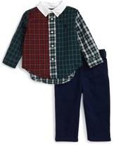 Ralph Lauren Plaid Shirt & Twill Pants Set (Baby Boys)