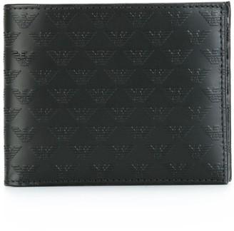 Emporio Armani Logo Emblazoned Portfolio Wallet