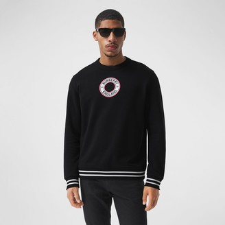 Burberry ogo Graphic Appique Cotton Sweatshirt