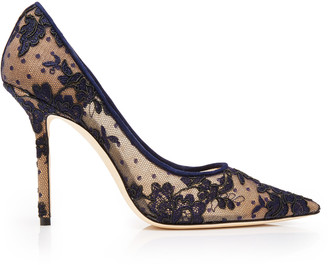 Jimmy Choo Love Flocked Lace Pumps