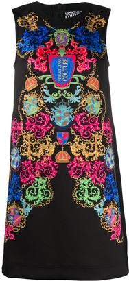 Versace Baroque-Print Mini Dress
