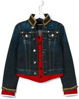 DSQUARED2 denim band jacket - kids - Cotton/Spandex/Elastane - 14 yrs