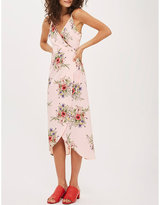 Topshop Anna Rocks floral-print crepe wrap dress