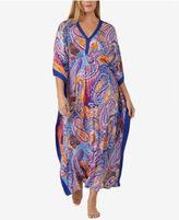 Ellen Tracy Plus Size Printed Knit Caftan