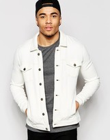 Asos Jersey Western Jacket In Off White