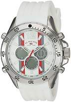 U.S. Polo Assn. Men's Stainless Steel Quartz Watch with Rubber Strap