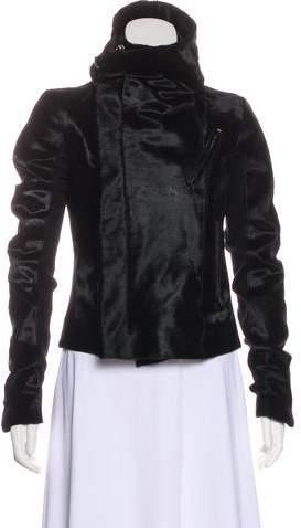 Rick Owens Fur Zip-Up Jacket
