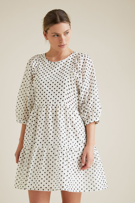 Seed Heritage Tiered Spot Dress