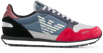 Emporio Armani Low Top Printed Logo Sneakers