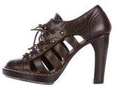 Proenza Schouler Leather Oxford Booties
