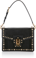 Dolce & Gabbana Studded Iguana Leather Top Handle Bag