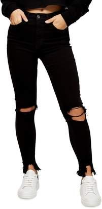 Topshop Ripped Hem Jamie Jeans 30-Inch Leg