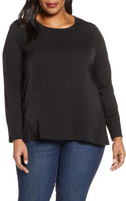 MICHAEL Michael Kors Mixed Media Top