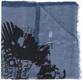 Junya Watanabe Comme Des Garçons Man - skull print scarf - men - Cotton/Cashmere - One Size