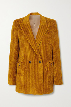 BLAZÉ MILANO Chance Remark Everyday Double-breasted Corduroy Blazer - Mustard
