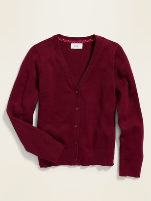 Old Navy Uniform V-Neck Button-Front Cardigan for Girls