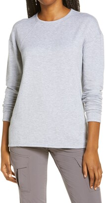Zella Intuition Studio Long Sleeve Fleece Top