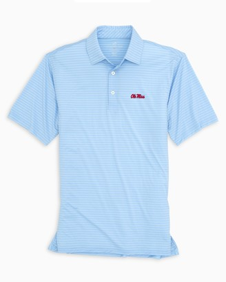 Southern Tide Ole Miss BRRR Striped Polo Shirt