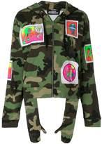 Jeremy Scott camouflage patch hoodie