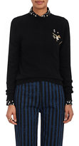 Marc Jacobs Women's Wool-Cashmere Embellished Sweater-Black