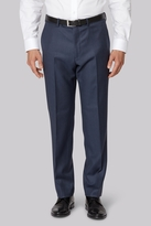 Ermenegildo Zegna Cloth Regular Fit Blue Sharkskin Trousers