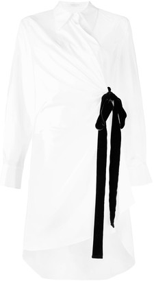 VIVETTA waist-tied long sleeve shirt