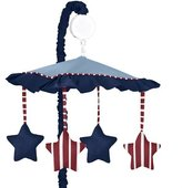 JoJo Designs Red, White & Blue Vintage Aviator Musical Baby Crib Mobile by Sweet