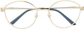 Cartier Panthere round-frame glasses