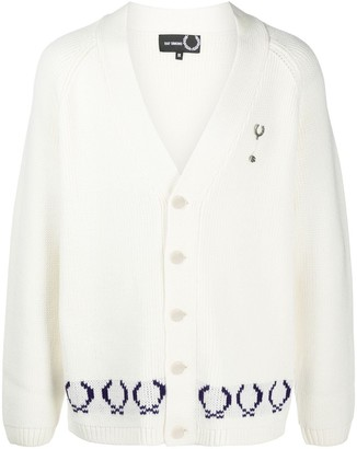 Fred Perry Intarsia-Knot Logo Cardigan