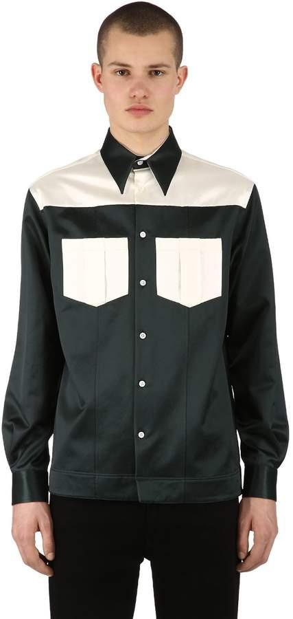 Calvin Klein Uniform Two Tone Satin Shirt