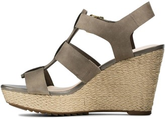 Clarks Maritsa95 Glad Leather Platform Wedge Sandal - Sage
