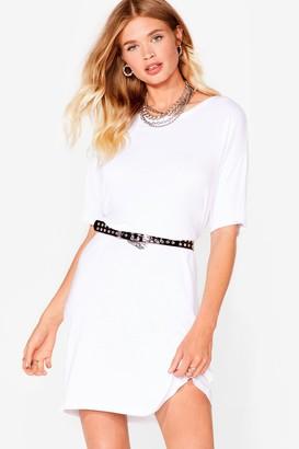 Nasty Gal Womens Loose Fit Midi T-Shirt Dress - White
