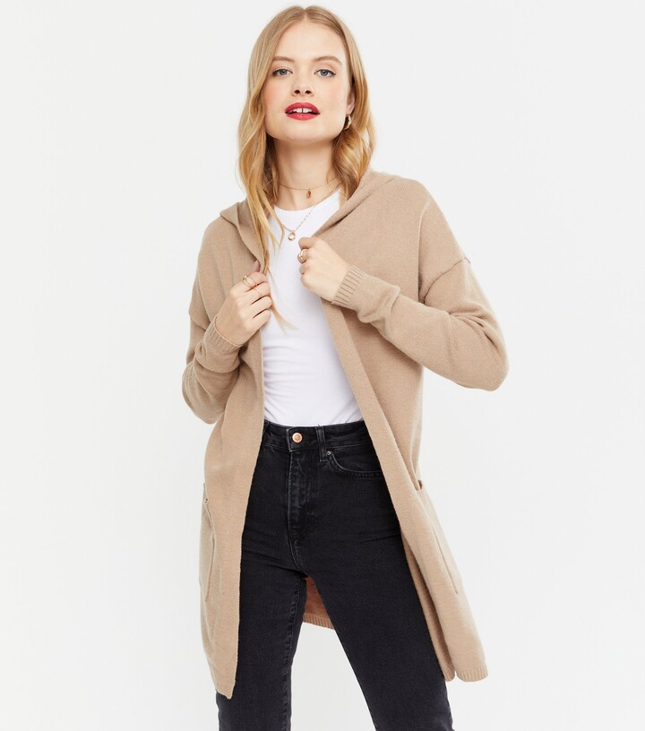 Thumbnail for your product : New Look Knit Hooded Midi Cardigan