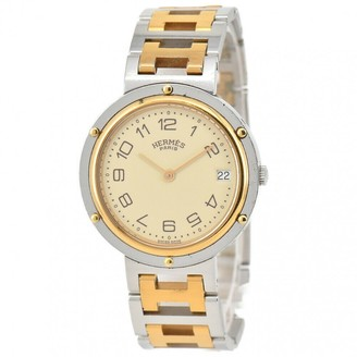 Hermes Clipper Gold Gold plated Watches