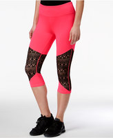 Material Girl Active Juniors' Lace-Inset Cropped Leggings, Only at Macy's