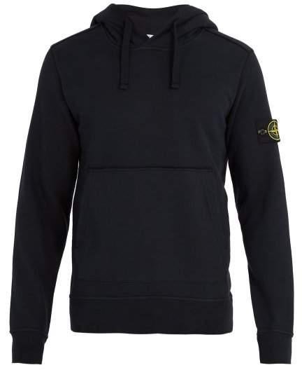 Stone Island Mock Neck Drawstring Hooded Sweater - Mens - Navy