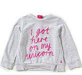Joules Baby/Little Girls 12 Months-3T Unicorn Screenprint Sweatshirt