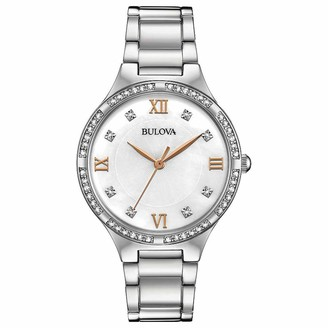 Bulova Womens Analogue Quartz Watch with Stainless Steel Strap 96L264